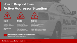 a graphic telling how to respond to an active aggressor, run, hide, fight