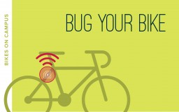 graphic representing bug your bike, stick drawing of a bicycle with a gps device under the seat