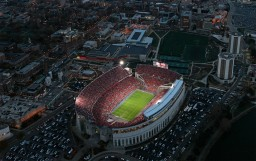 Ohio Stadium at night, under the lights