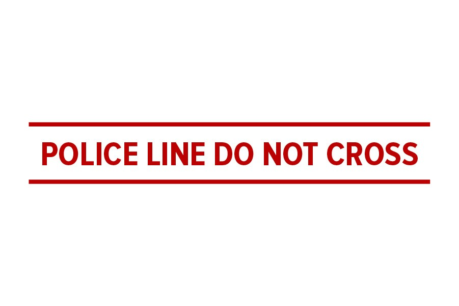 Icon of tape saying 'police line do not cross'