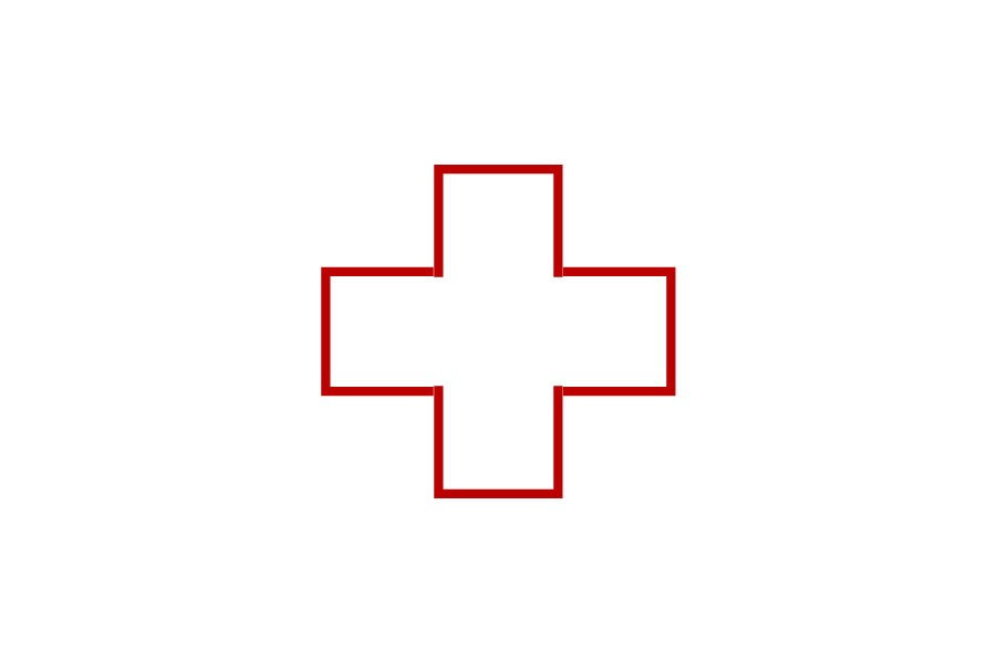 Icon of first aid cross,