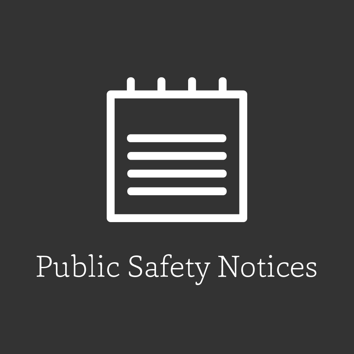 icon graphic for public safety notices, clipboard