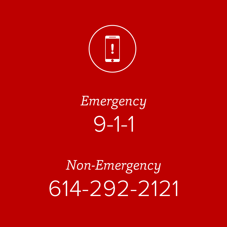 tile graphic of emergency and nonemergency phone number, 6142922121