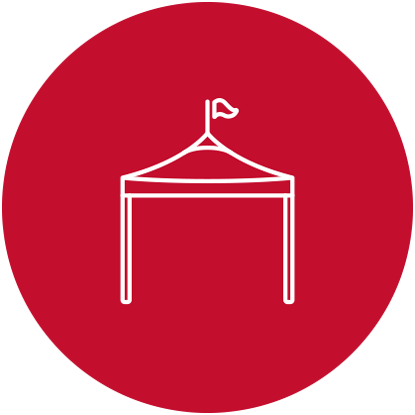 icon graphic of a tent