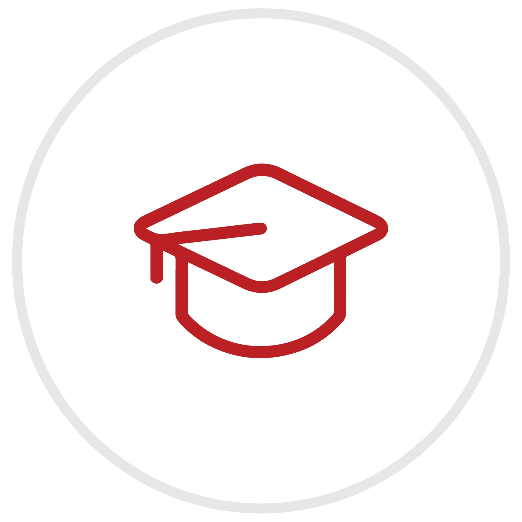 Icon of a graduation hat.