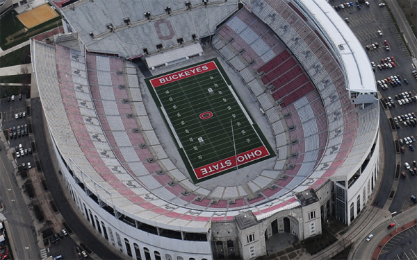 Aerial View of the Ohio Stadium