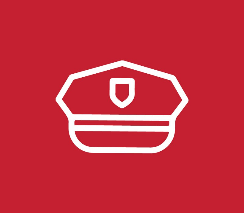 icon graphic of a police hat