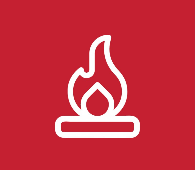 icon graphic of a flame