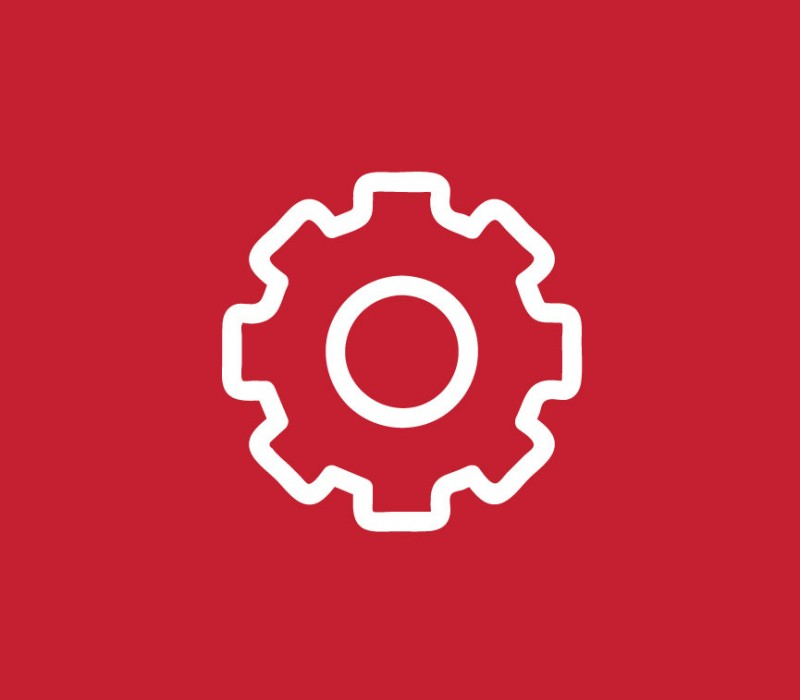 icon graphic of a gear
