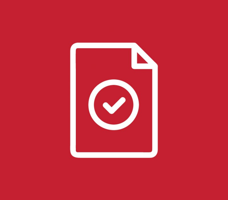 icon graphic of a tablet of paper with a checkmark on it